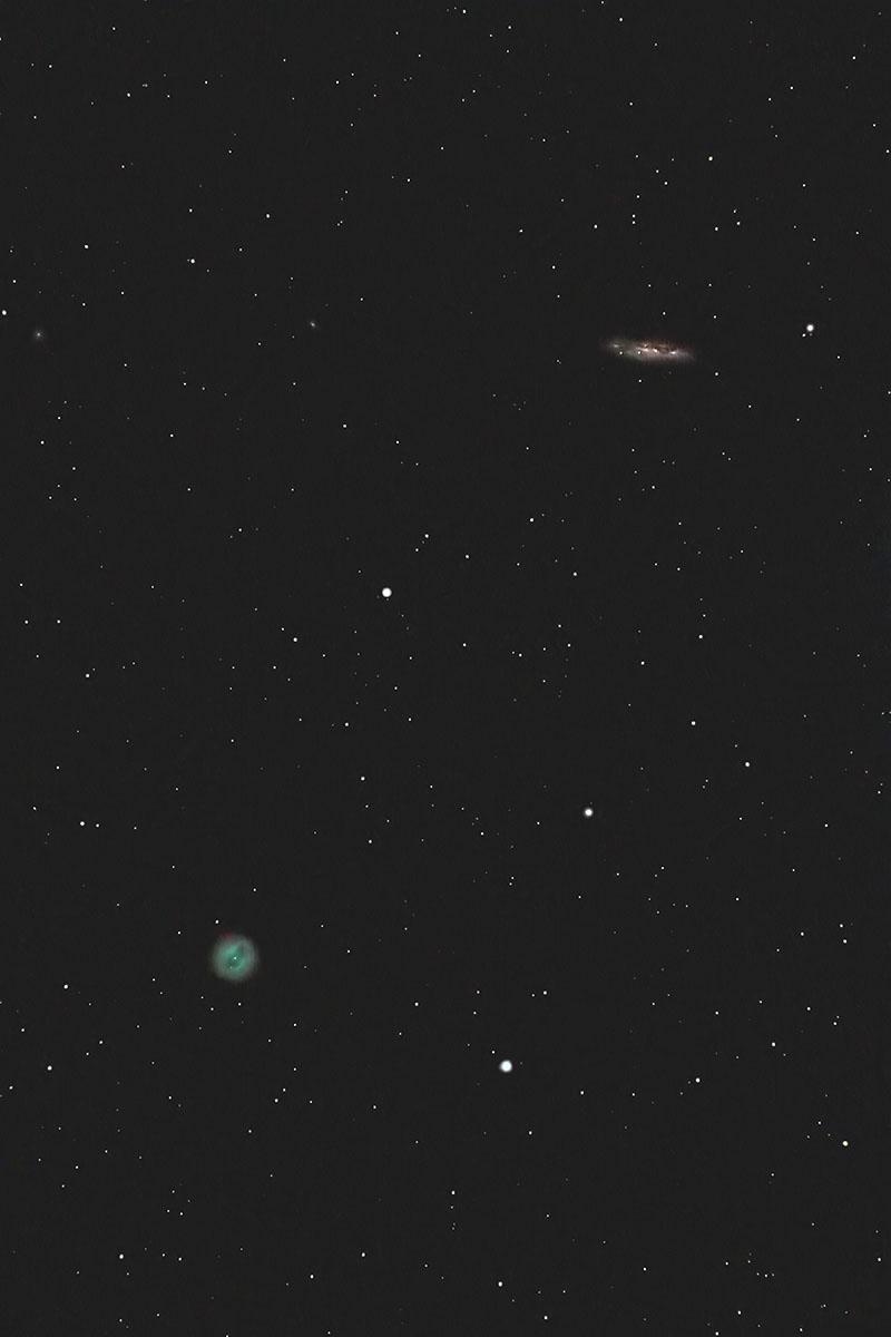 ふくろう星雲 M97とM108(M97: ...