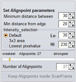 Set Alignpoint parameters